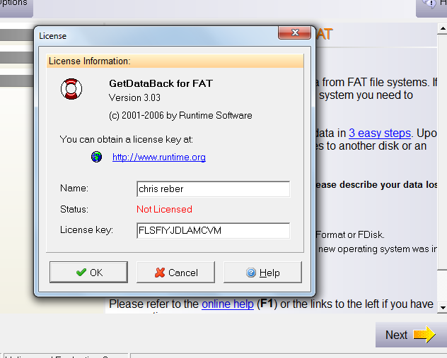 getdataback simple 5.0 license key