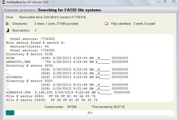 mulai searching file system