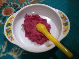 bubur beras daging jamur bit kwaci